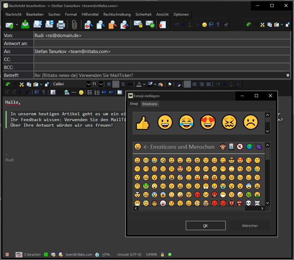 Der neue HTML Editor in The Bat v20.20