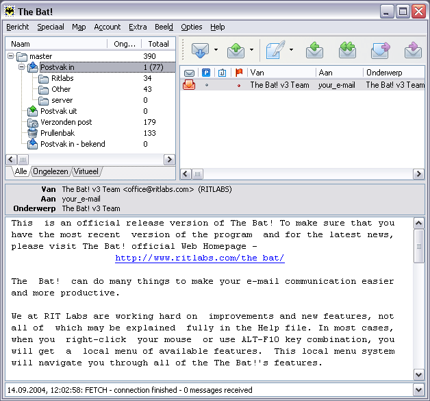 The Bat!, The Bat! free download,mail client, incredimail, outlook express, foxmail,  Shareware, software, free download, freeware